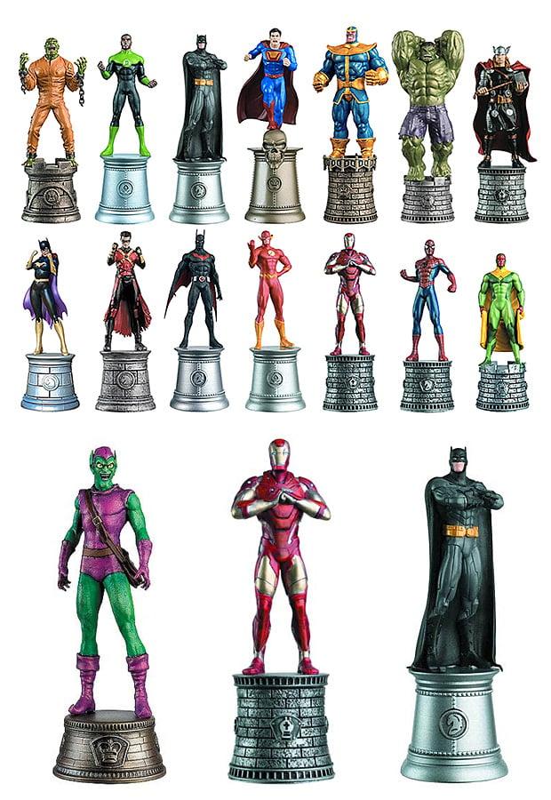 DC Comics vs Marvel Comics Chess Pieces at werd.com