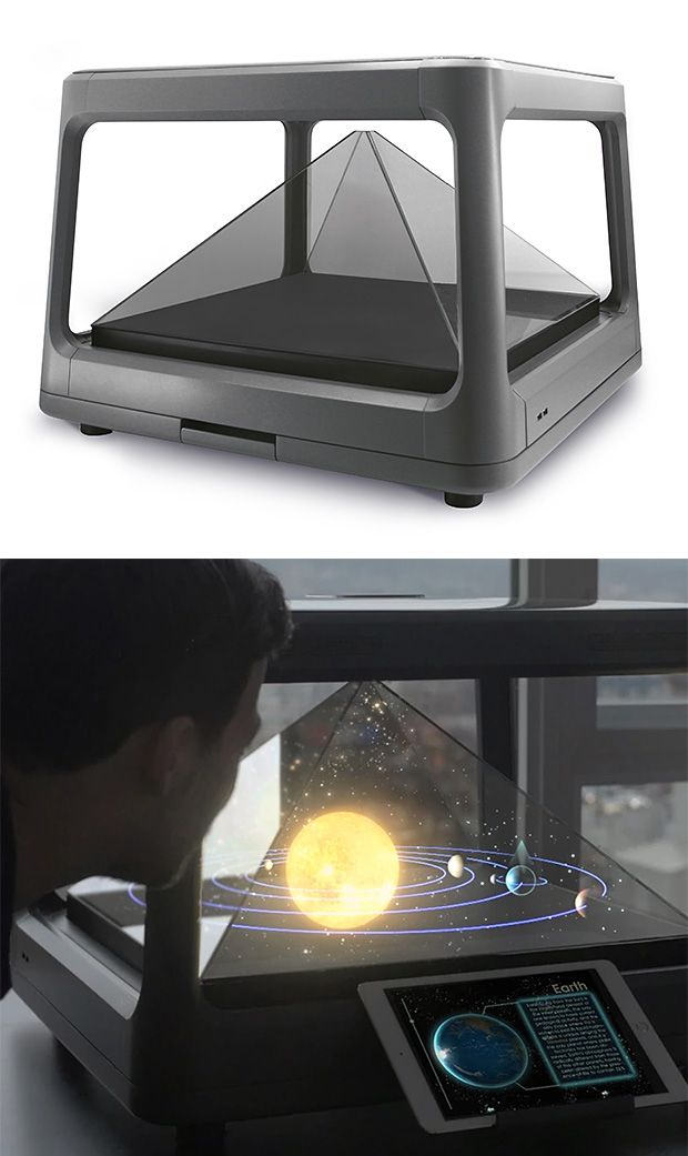 Holus Interactive Tabletop Holographic Display at werd.com