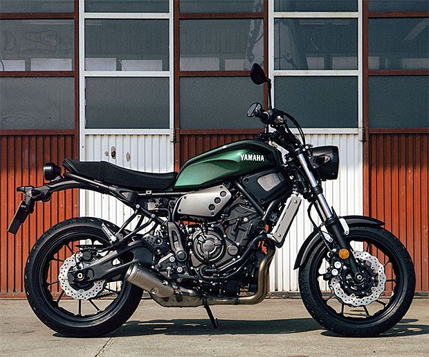 The Yamaha XSR700 at werd.com