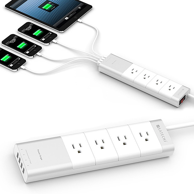 Satechi Aluminum 4-Outlet Power Strip at werd.com