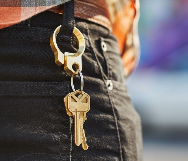 Grovemade Brass Key Ring at werd.com