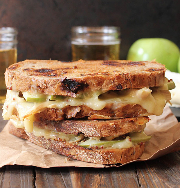 Roast Chicken, Apple and Brie Grilled Cheese Sandwich at werd.com