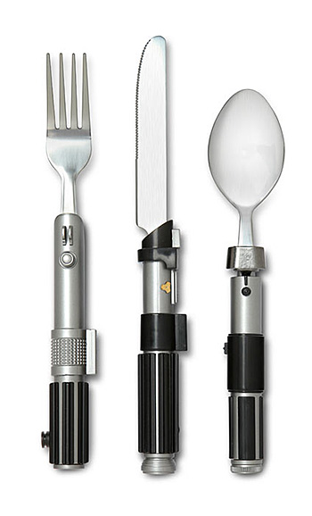 Star Wars Lightsaber Flatware Set at werd.com