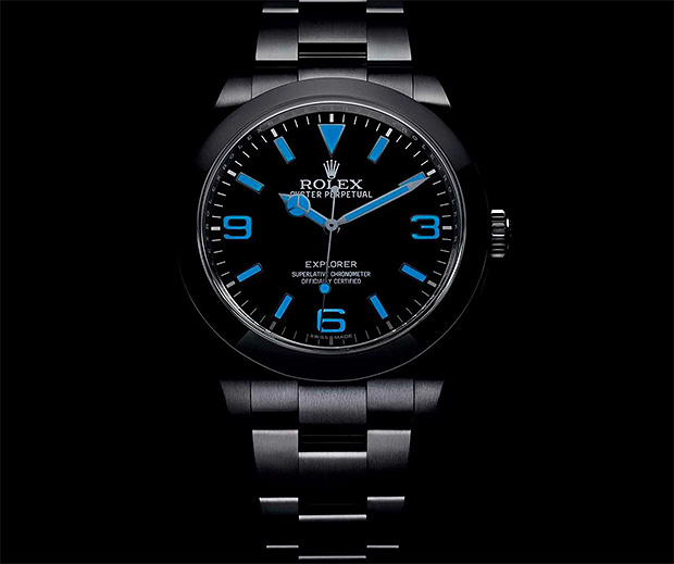 Rolex Oyster Perpetual Explorer With Chromalight Display at werd.com