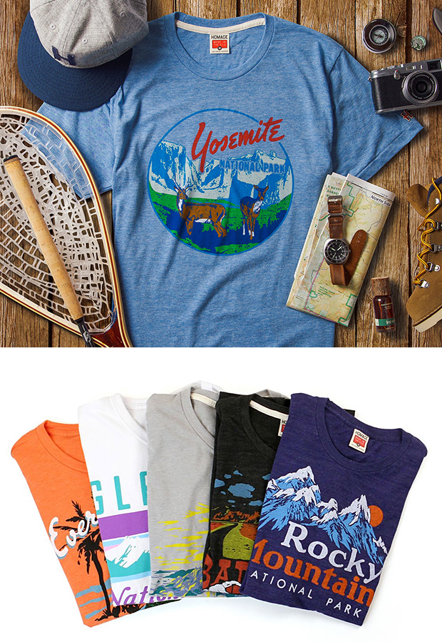 National Parks Homage Tees at werd.com
