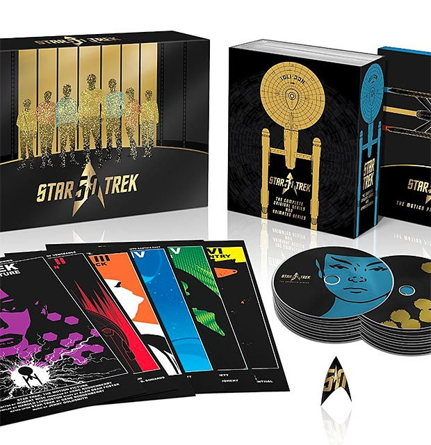 Star Trek 50th Anniversary TV and Movie Collection Blu-ray at werd.com