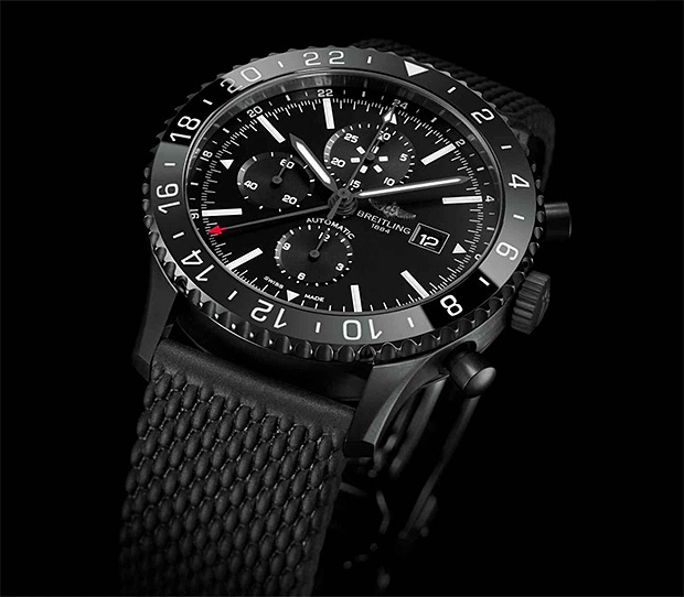 Breitling Chronoliner Blacksteel at werd.com