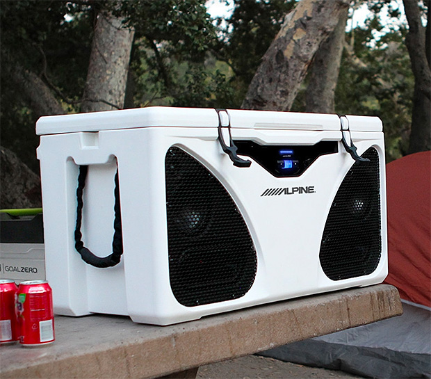 Alpine ICE In-Cooler Entertainment System at werd.com