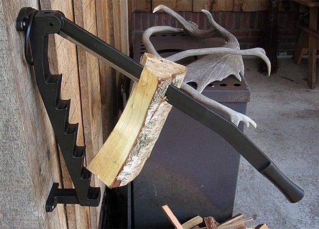 Stikkan Wall-Mounted Kindling Wood Splitter at werd.com