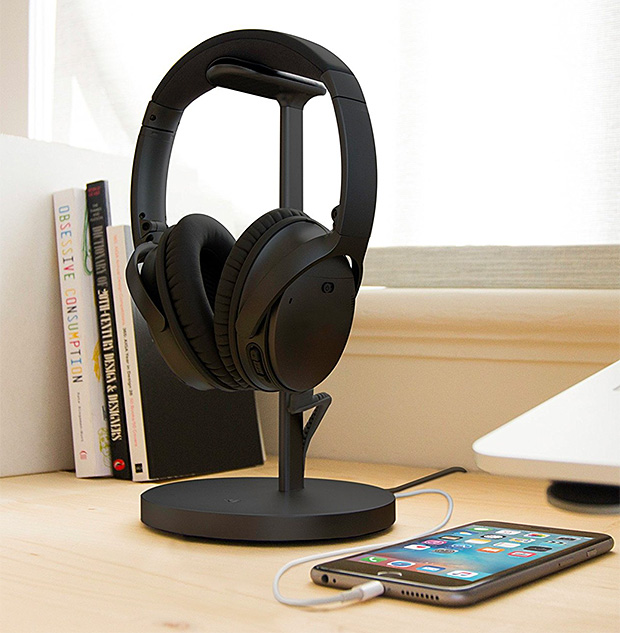 TwelveSouth Fermata Headphone Charging Stand at werd.com