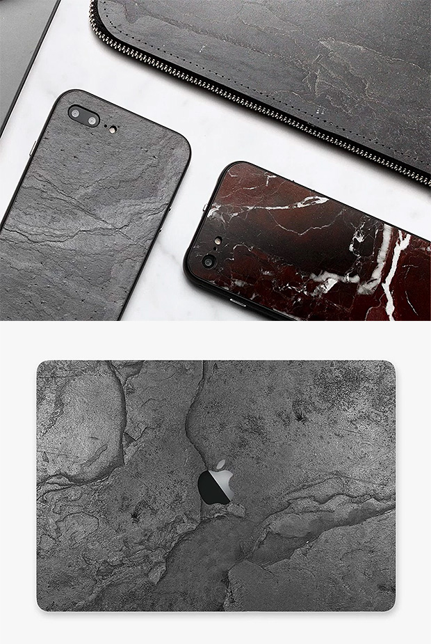 ROXXLYN Tech Cases Crafted From Marble, Slate and Quartzite at werd.com