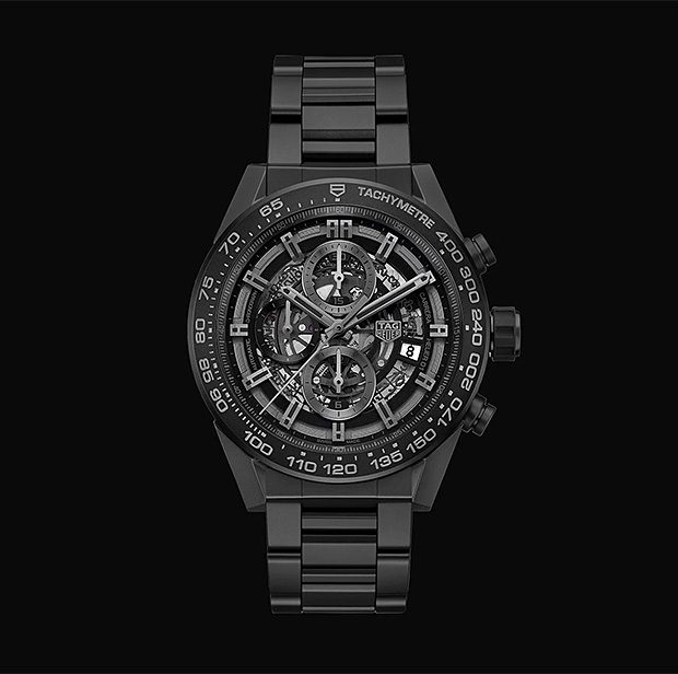 TAG Heuer Carrera Heuer-01 Full Black Matte Ceramic at werd.com
