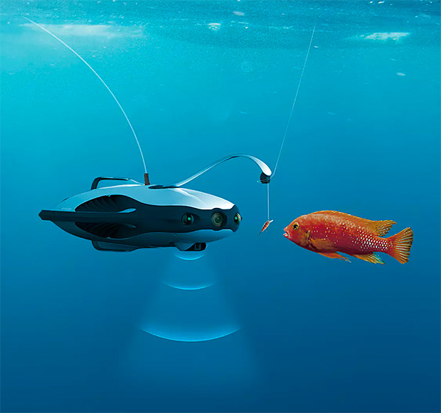 PowerRay Fishfinder Underwater Drone at werd.com