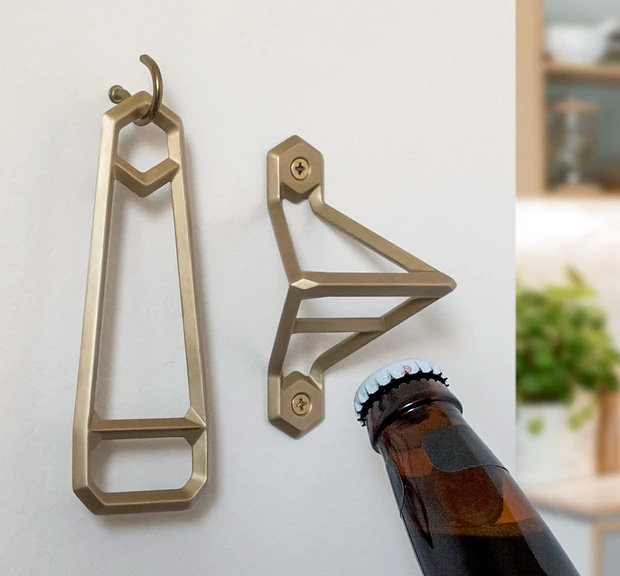 Wander Workshop Offers Brass Openers with the Leverage Collection at werd.com