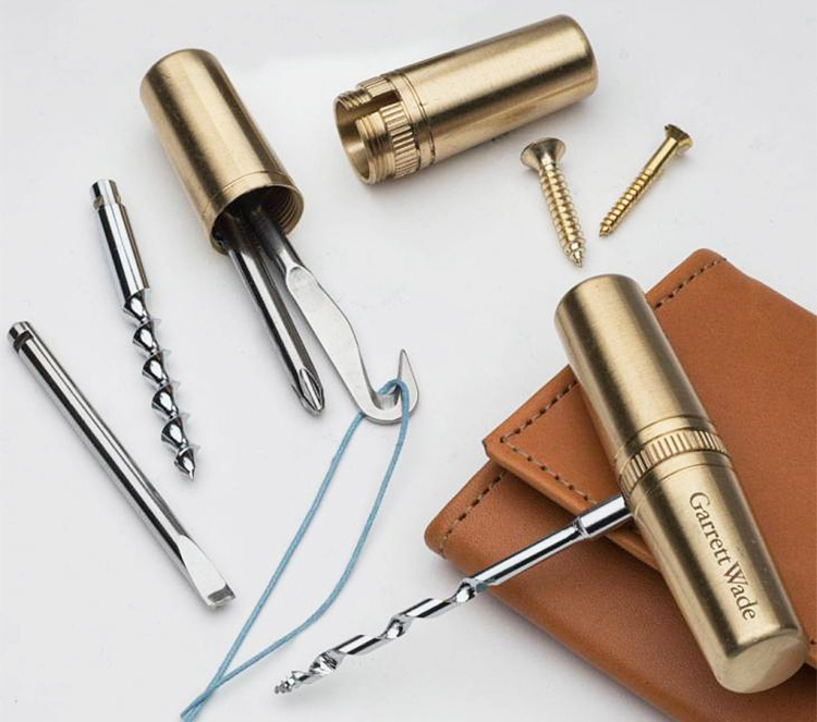 This Pocket-Size Brass Multi-Tool is a Slim & Versatile Piece of EDC Gear at werd.com