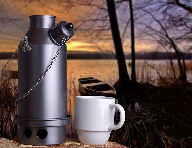 The Ghillie Camping Kettle Heats From the Inside Out at werd.com