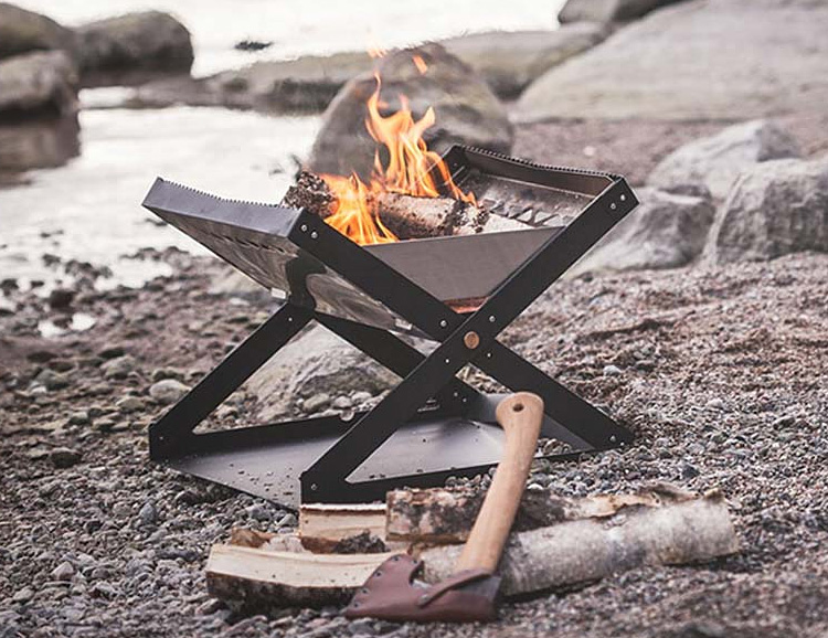 This Portable Firepit Brings the Heat Without Breaking the Rules at werd.com