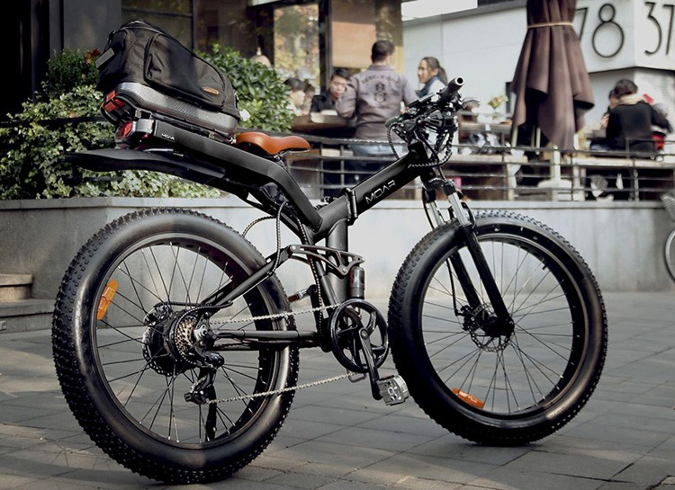 MOAR is the World's Most Powerful Full-Suspension, Fat Tire Folding Frame Electric Bicycle at werd.com