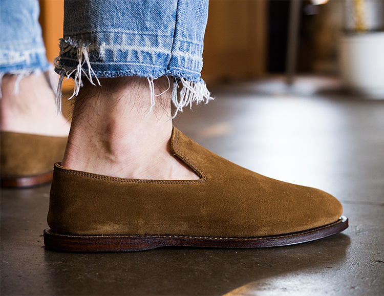 Slip On Into Suede with the Viberg Slipper at werd.com