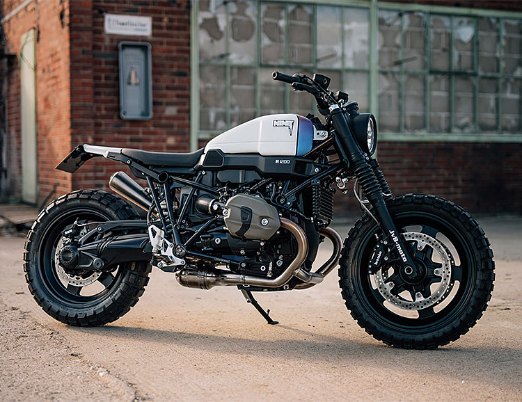 A Custom BMW R nineT Scrambler by JvB-Moto at werd.com