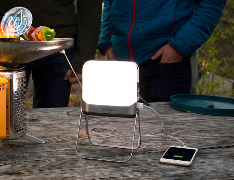BioLite's BaseLantern XL is a Packable Source of Light & Power at werd.com