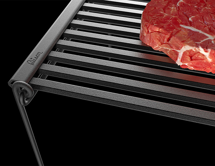 The Lightweight, Portable Bison Rolling BBQ Grill is Good To Go at werd.com