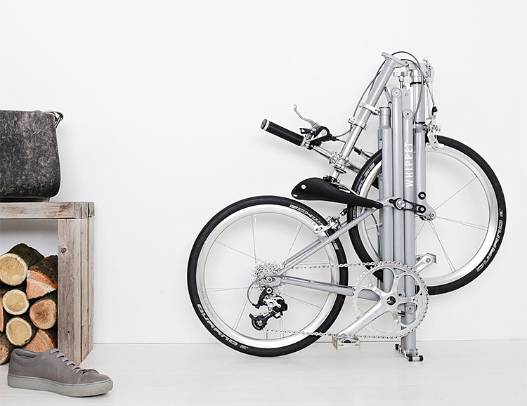 A Stylish, Compact, Foldable Cruiser: The Whippet Bike at werd.com