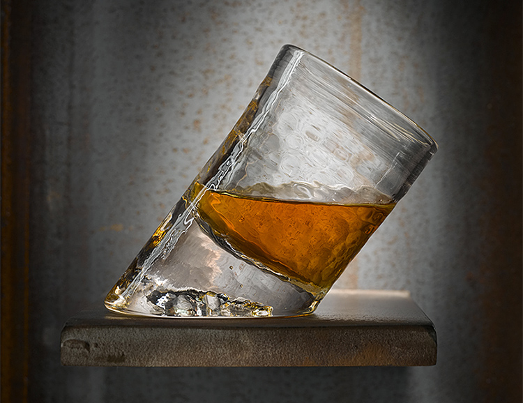 It's Not Whiskey Vision, This Glass Is Actually Slanted at werd.com