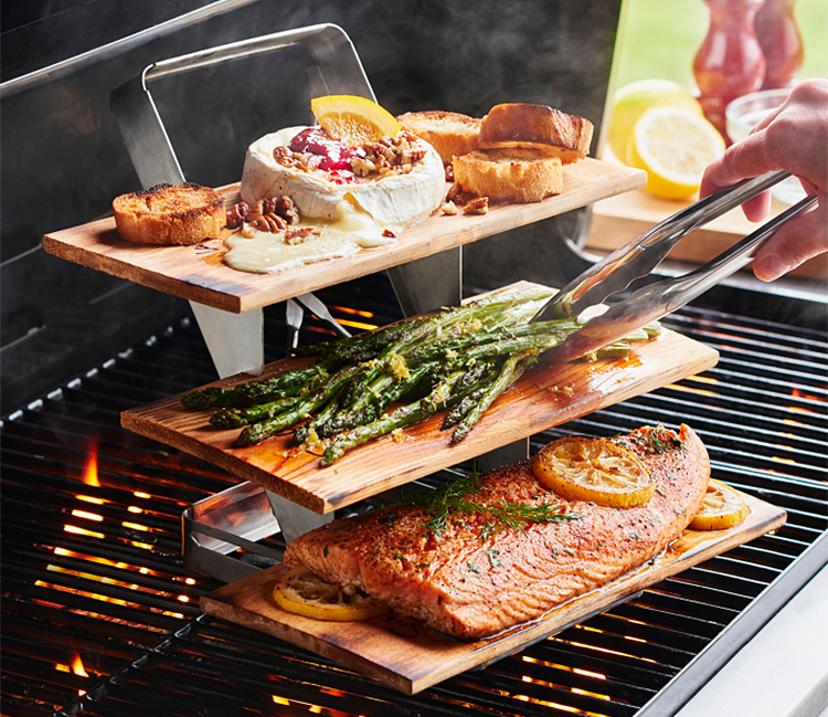 This 3-Tier Plank Holder Will Take Your Grilling Up A Level (Or 2) at werd.com