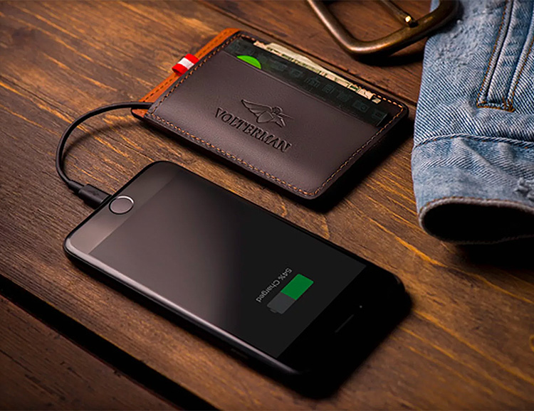 The Volterman Smart Wallet Does Much More Than Carry Cash at werd.com