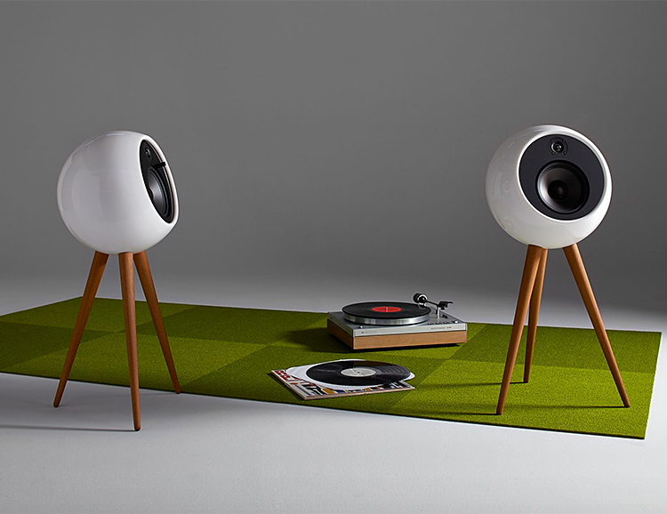The Moonraker Speaker System Merges Modern Audio & Mid-Century Design at werd.com