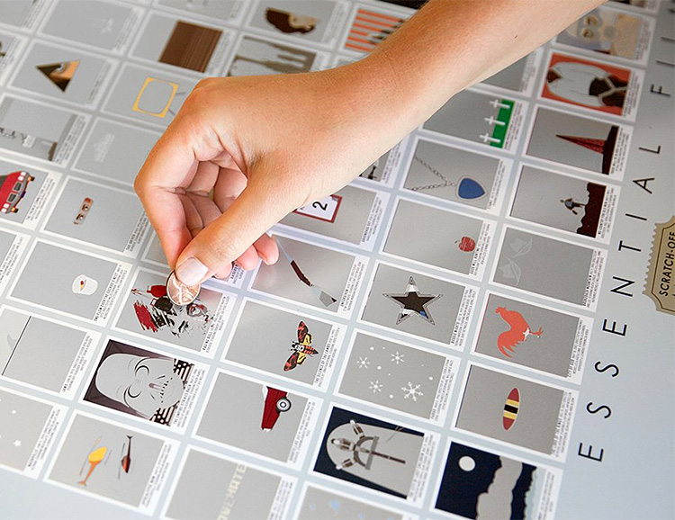 This Scratch-Off Chart Tracks Your Viewing of 100 Essential Movies at werd.com