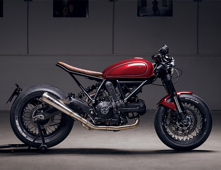 Diamond Atelier's Ducati Scrambler Sixty2 is Built to Shred City Streets at werd.com