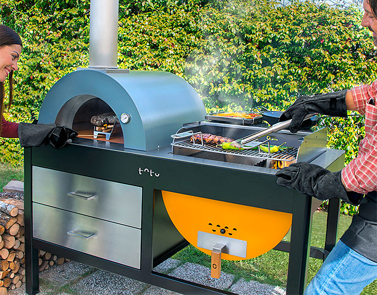 The Toto Outdoor Oven Looks as Good as it Cooks at werd.com