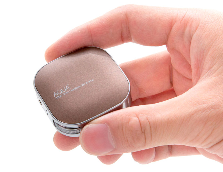 Upgrade Your Cruddy Audio To 32-Bit with the Powerful Pocket-Size AQUA+ Amp at werd.com