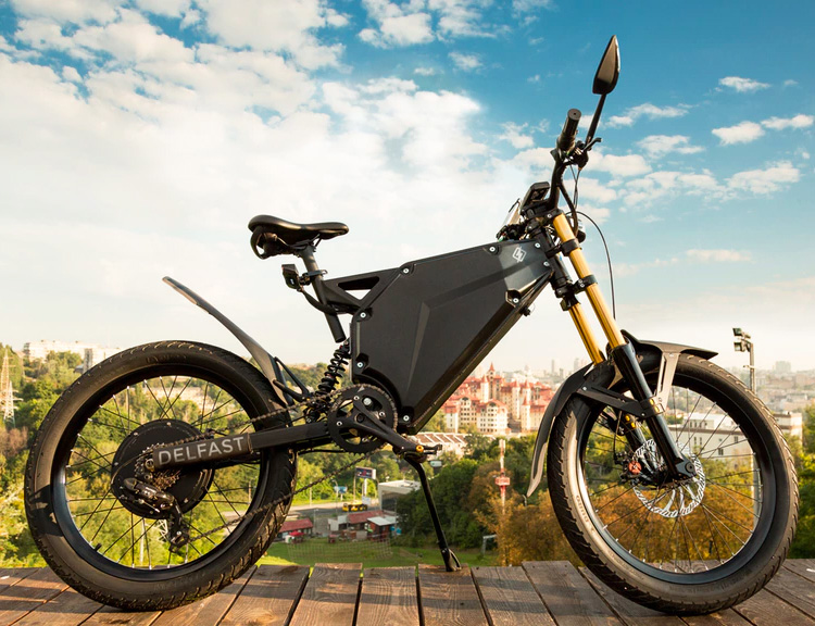 The Delfast E-bike is a Roadtrip Machine at werd.com