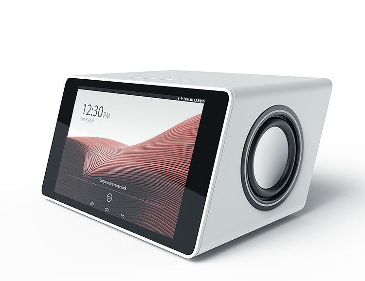 The AIVIA Smart Speaker has a Sweet Touchscreen & Bass That Bangs at werd.com