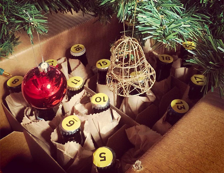 This Beer Advent Calendar is Daddy's Little Holiday Helper at werd.com