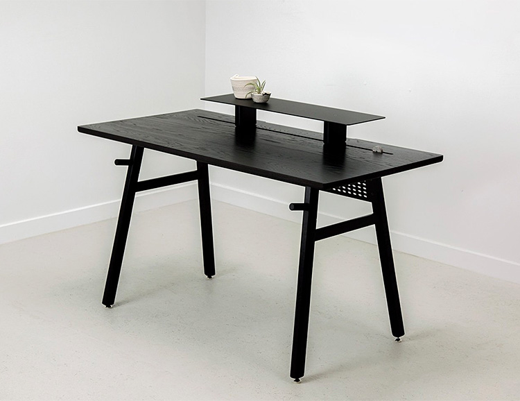 Black, Minimalist, Modular, Check Out This Desk from Artifox at werd.com