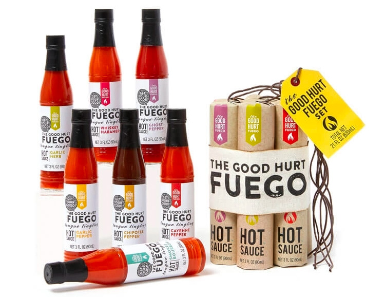 Get that Good Hurt with this Fuego Hot Sauce Sampler at werd.com