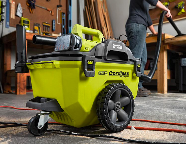Ryobi's One+ Cordless Shop Vac Has Super Suction at werd.com