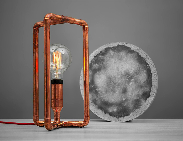 Zapalgo Lamps Merge Industrial Copper & Modern Design at werd.com