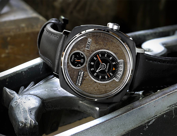 REC Watches' P-51 Collection Uses Salvaged Ford Mustang Parts at werd.com