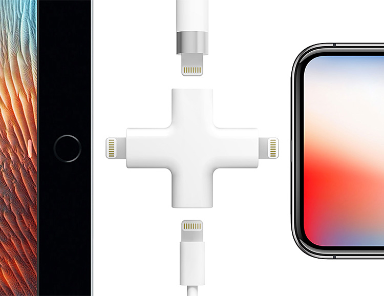Node is a Multi-Charger for Your Lightning-Powered Apple Devices at werd.com