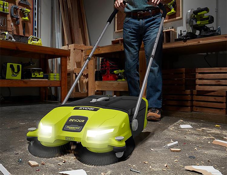 Ryobi's Devour Cordless Sweeper Eats Jobsite Junk at werd.com