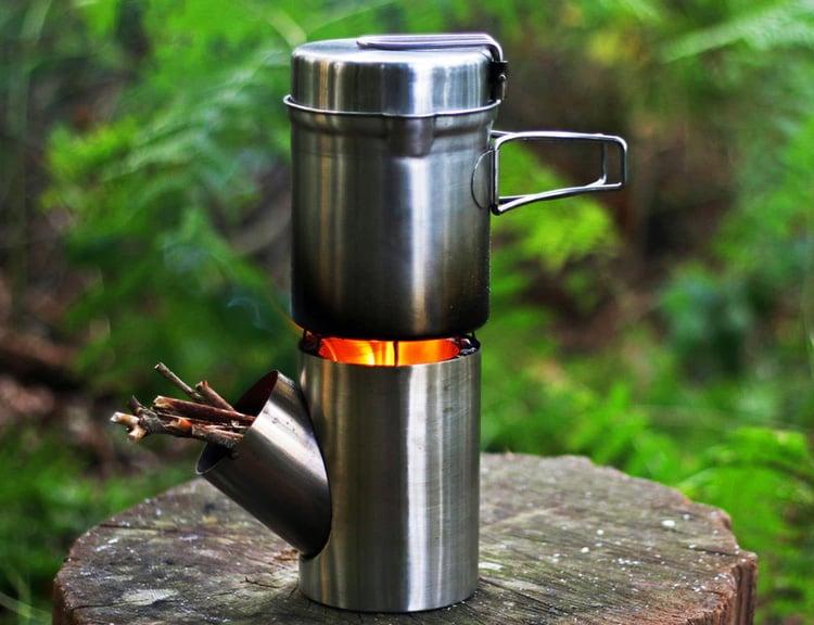 The Kombuis Camp Cook Set Burns Biomass at werd.com