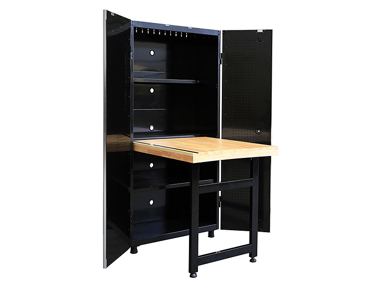 This Cabinet & Work Bench from Husky is a Space-Saver at werd.com