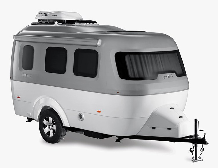Airstream Launches Lightweight Fiberglass Nest Camper at werd.com
