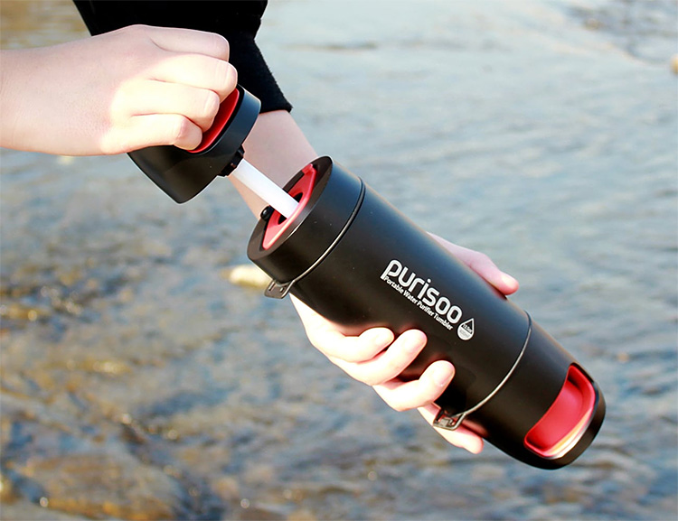 Purisoo is a Water Purifier, Pump & Bottle In One at werd.com