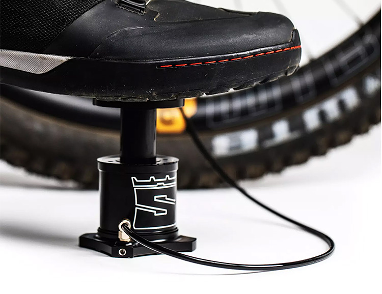 Stompump is a Compact Bike-Mounted Foot Pump at werd.com